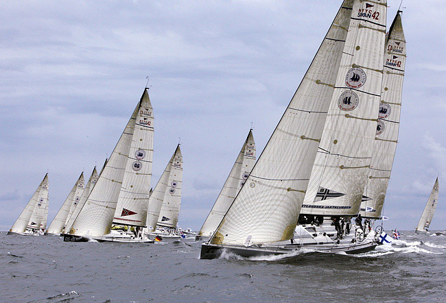 New York Yacht Club Invitational Cup Fleet (Photo by Dan Nerney)