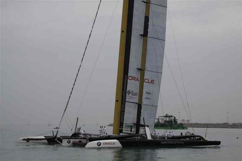 BMW Oracle Coming Back After Day 1 Racing Cancelled (Photo by Gareth Evans)