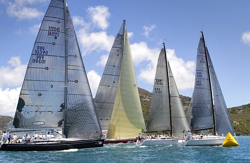 Harbor Start Of Class IRC 2 (Photo by Rolex / St. Thomas Yacht Club/Ingrid Abery)