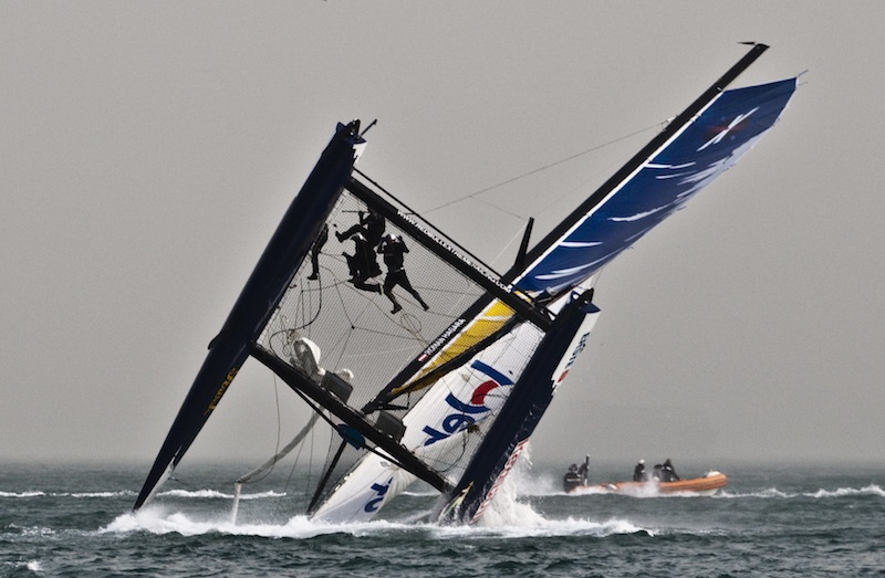 Red Bull Extreme Sailing 2nd Capsize of the Day (Photo by Giordana Pipornetti / Niceforyou)