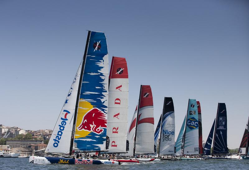 Extremem Sailing Series Fleet (Photo by Lloyd Images)