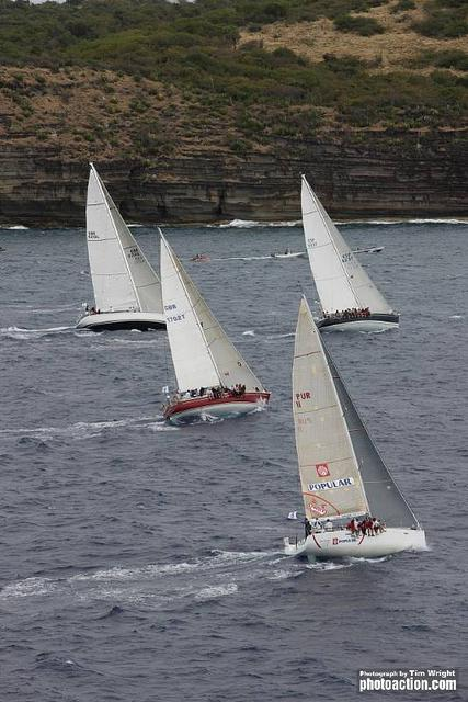 IRC One, Two, Three and Class40 Start. Smile and Wave, Scarlet Logic, Clem and Uxorious IV (Photo by Tim Wright)