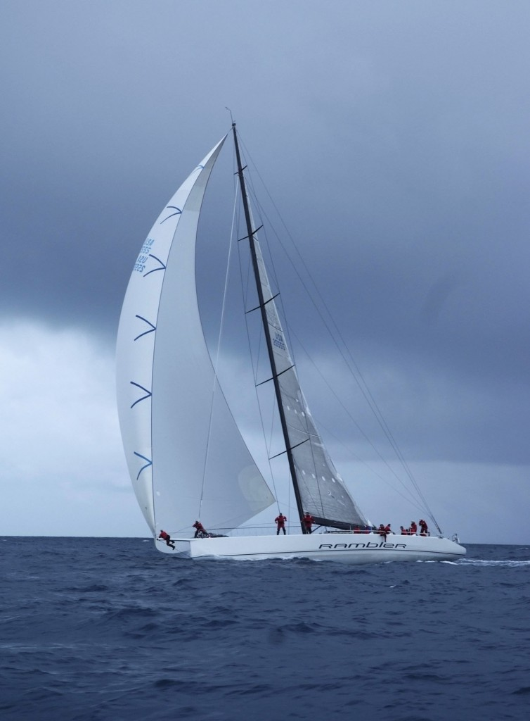 "George David""€™s 90ft maxi Rambler has smashed the 635 mile Newport Bermuda race record, clipping a massive 14 hours off the previous best time set 10 years ago by Roy Disney's Pyewacket.  The new record now stands at 39hr, 39 minutes, 18 seconds (subject to ratification)  - an average speed of 16knots(Photo by Barry Pickthall/PPL)"